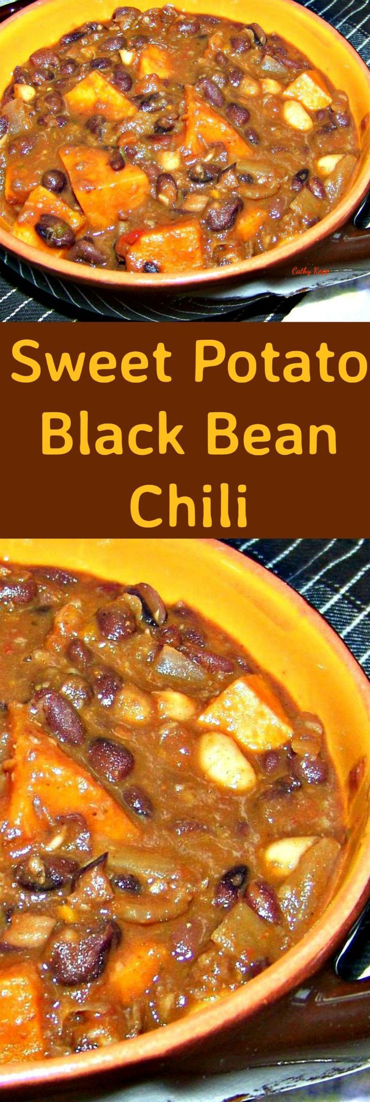 Sweet Potato Black Bean Chili is an easy, fuss free and budget friendly recipe full of flavor and lovely to keep you warm! With the addition of sausage meat, salsa and many other goodies, you can be sure this will fill your tummies!