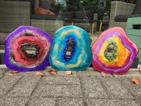 112. Free Form Resin Geodes. Part 4. End Result/Walk in ...
