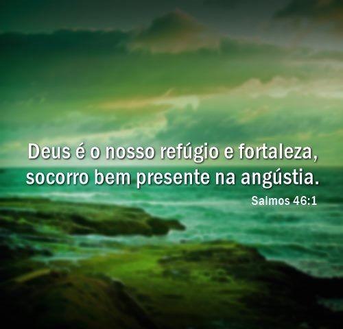 """Deus é o nosso refúgio e fortaleza, socorro bem presente na angústia."""""""