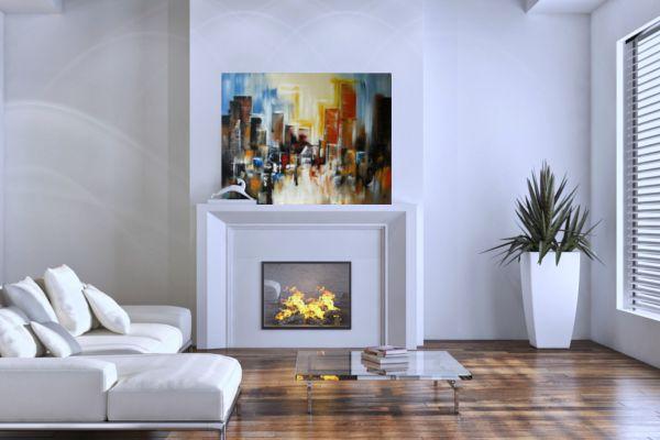 Absztrakt kézzel festett vászonkép - a stílusos dekoráció. Óvárdesign webáruház - Könnyedén böngészhetsz otthonról a teljes kínálatunkban.