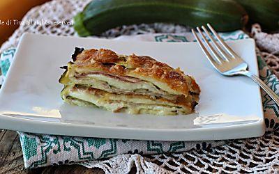 Parmigiana bianca di zucchine veloce,si prepara in pochi minuti,senza precottura!