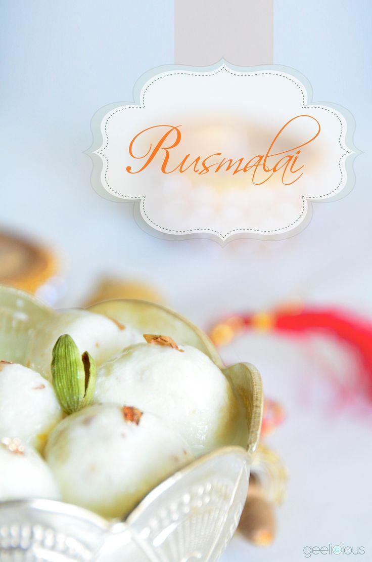 .... Rusmalai .... Indian Dessert ( cottage cheese balls in sweetened milk )