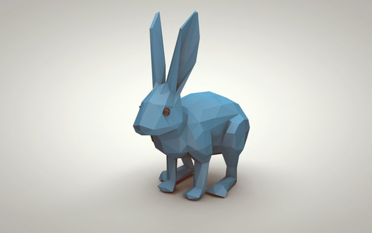 Blue Bunny (Low Poly) by error-23.deviantart.com on @deviantART