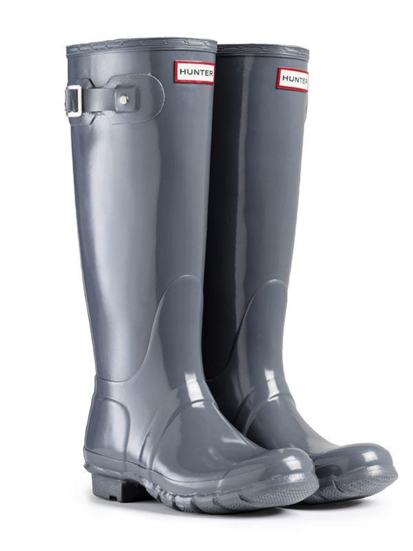Original Tall Gloss Rain Boot   Hunter Boot Ltd I love the graphite.