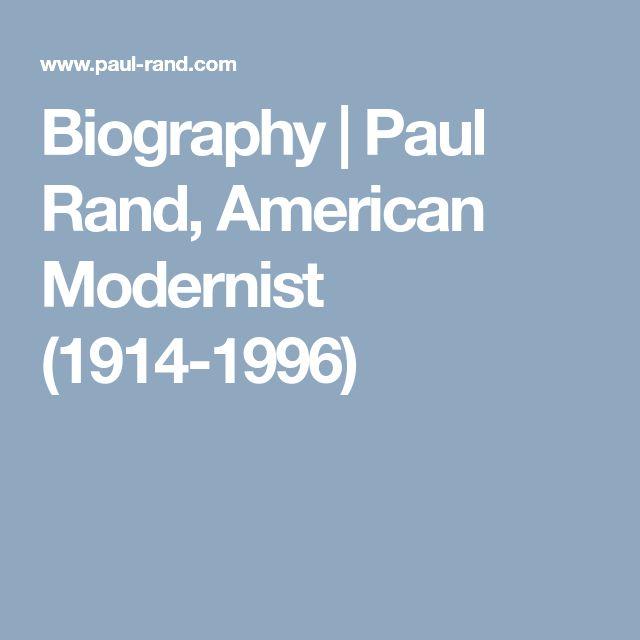 Biography | Paul Rand, American Modernist (1914-1996)