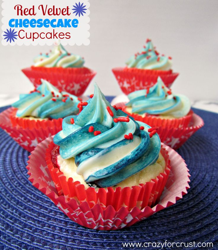 Red Velvet Cheesecake Cupcakes - Crazy for Crust Yummy!!