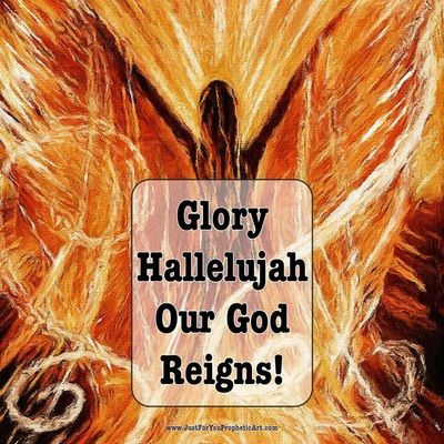 """""""Glory Hallelujah, Our God reigns!"""" Prophetic Art painting by Pam Herrick - Just For You Prophetic Art"""