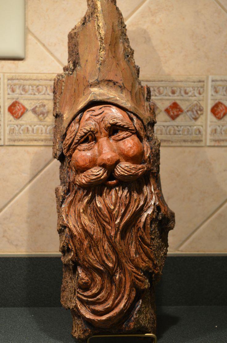 http://www.etsy.com/shop/SusanAlexanderCarves  Wood Spirit carved by Susan Alexander. More carvings on Etsy.