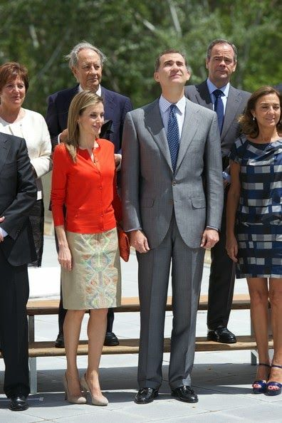 King Felipe  and Queen Letizia attended the delivery of National Innovation and Desing Awards 2013 at Museo de la Ciencia de Valladolid  in Valladolid.