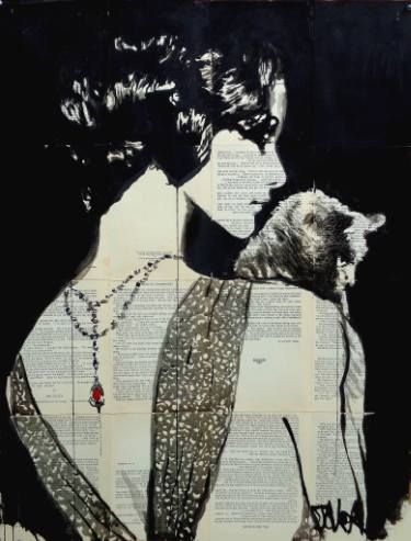 "Saatchi Art Artist Loui Jover; Drawing, ""ruby"" #art"