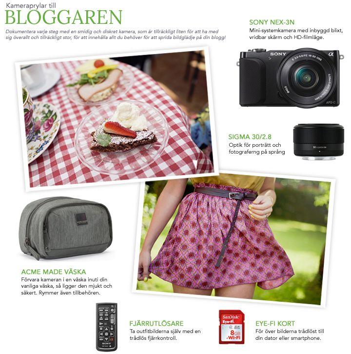 Kameraprylar till Bloggaren