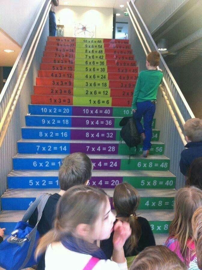 Ah! Vi har ju mängder med trappor att använda!