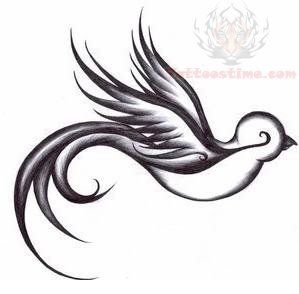 Swallow Flying Tattoo Design