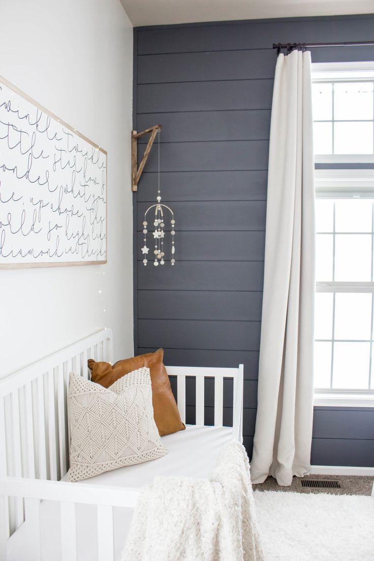 Baby Boy Room Wall Ideas: Baby Boy Nursery Shiplap Wall