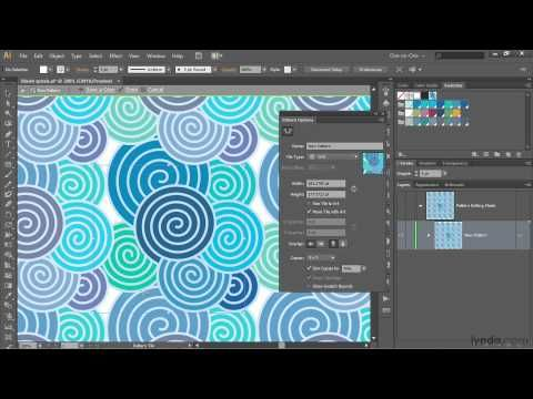 Watch more at http://www.lynda.com/Illustrator-tutorials/Illustrator-CS6-One-One-Intermediate/105382-2.html?utm_medium=viral_source=youtube_campaign=videoupload-design-FMpy5s9DejA. This Illustrator tutorial shows how to create a seamless repeating pattern by creating a custom swatch with the Pattern Generator.     This tutorial is a single...