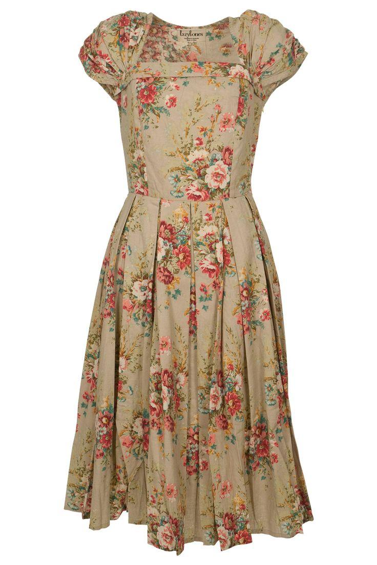 Kinds Of Vintage Floral Curtains - Lazybones laura dress vintage floral fabricvintage