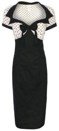Lindy Bop 'Laney' Chic Vintage 50's Style Black Bengaline Pencil Wiggle Dress:Price: $46.99