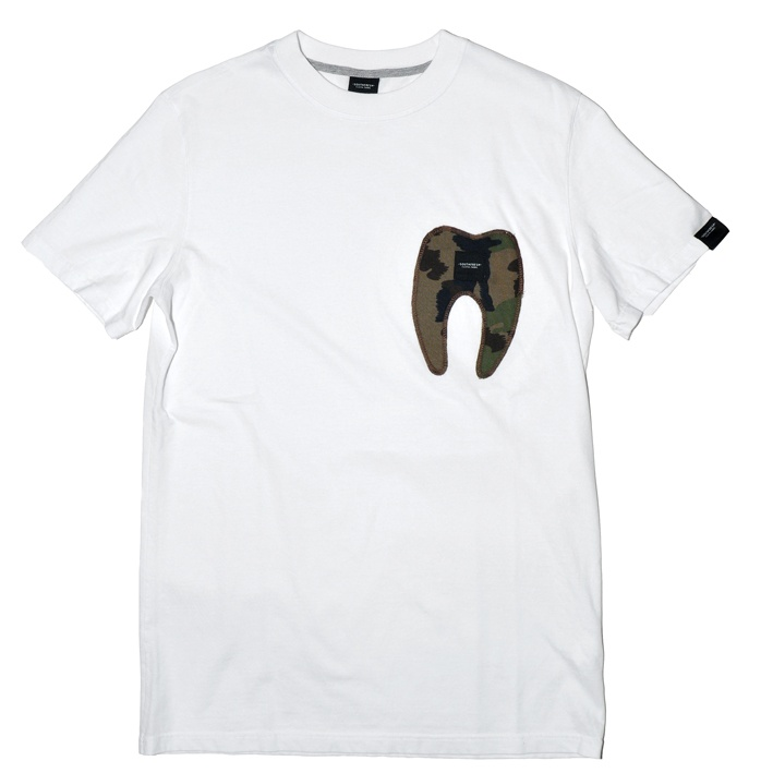 Tooth pocket tee  white