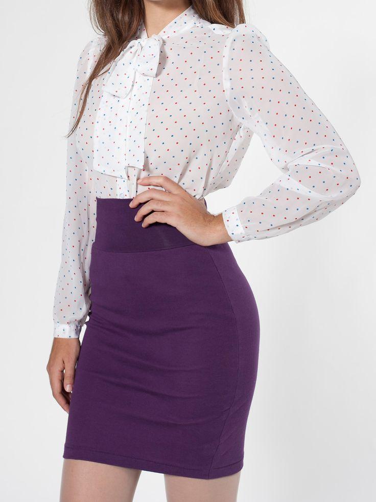 American Apparel - Interlock Pencil Skirt