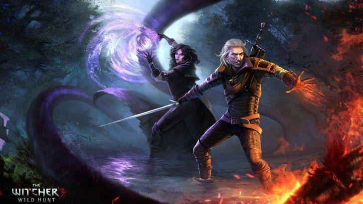 Download Yennefer and Geralt of Rivia 4k Art Wallpaper 3840x2160