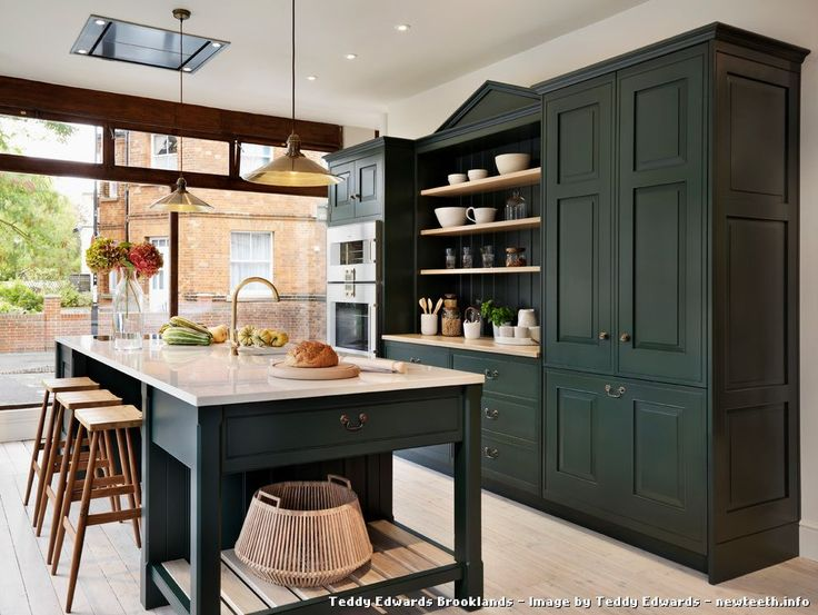 Dark Green Kitchen Cabinets 17 best arsenic green images on pinterest | farrow ball, colors