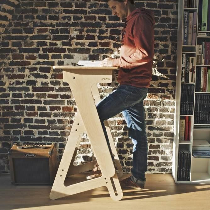 The StandUp Large is our all wooden height adjustable desk ideal for creative offices, startups or at home. Thanks to its manual and simple design, everyone is able to use it at a comfortable height. The StandUp is compact and lightweight, making it easy to move around. Some important features are the ergonomic footrest and storage shelf. The desk is 100% made in the USA using FSC-certified Birch plywood and environmentally friendly finishes. Available now in three sizes: Large:  The…