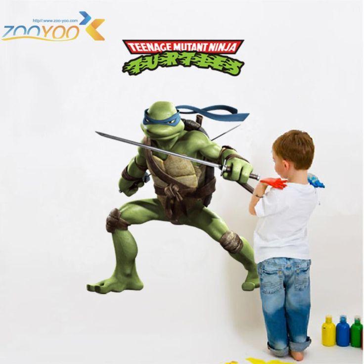 * teenage mutant ninja turtles home decals 031. diy decorative stickers kids bedroom removable cartoon movie mural art posters  #Affiliate