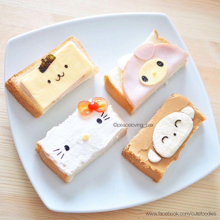 Sanrio sandwiches by Pax❤️Cute Food (@peaceloving_pax)