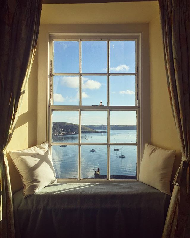 Falmouth, Cornwall. Imagine spending quiet moments here watching the sailing boats below.