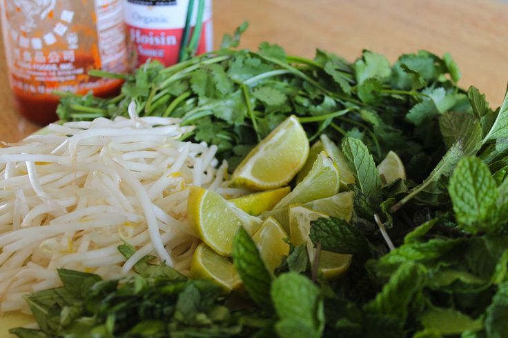 Rice noodles get all dressed up fo' freesies! The Pho Place Sent Too Much Mint And Basil. Asian Pesto Time!