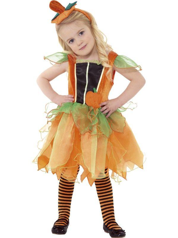 Gresskar prinsessekjole til barn - Halloween kostyme til barn