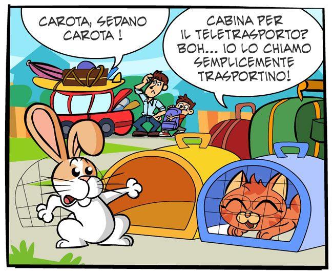 Pronti, partenza… via! | Fumetti Gli Inseparabili Friskies (cani, gatti, conigli, animali)