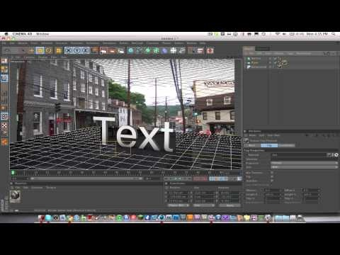 3d Text On Real Images With Good Lighting And Reflections - Cinema 4d Tutorial