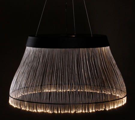 Large Black Fiber Chandelier glorified with optical fibers | Luxurylaunches