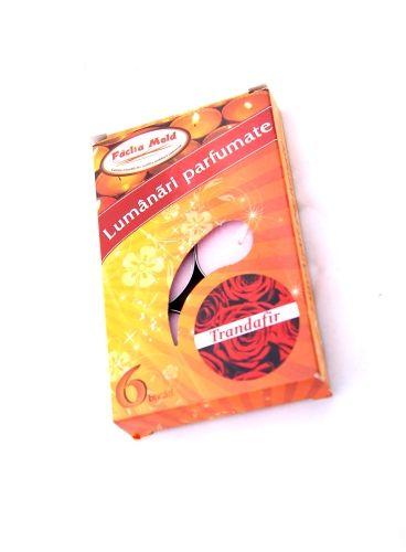 Lumanari parfumate 6/set Trandafir | Misavan Curatenie