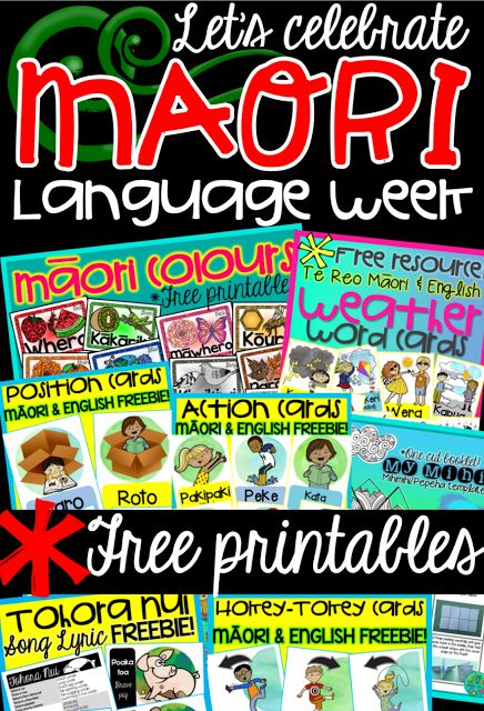 Let's celebrate Māori language week! ~FREE Printables~ {Green Grubs Garden Club Blog}