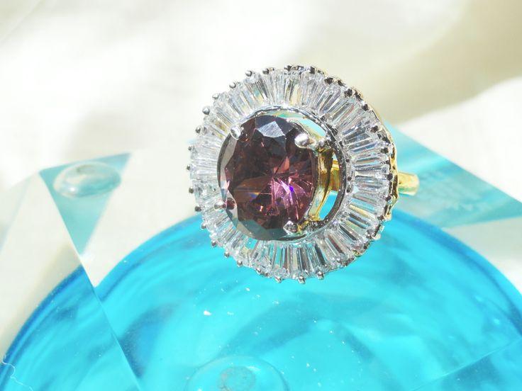 Ethnic adjustable finger ring. Garnet like solitaire finger ring with – Artikrti