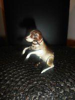 Antikes Blechspielzeug apportierender Hund Made in US Zone 8 cm
