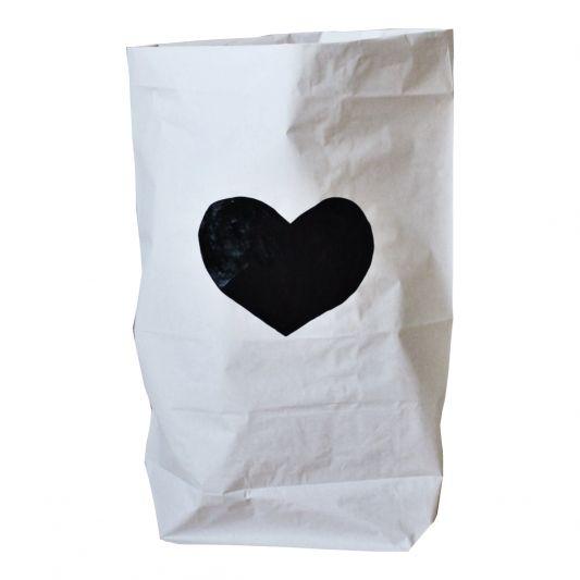 TellKiddo Black Heart Storage Bag Leo and Bella