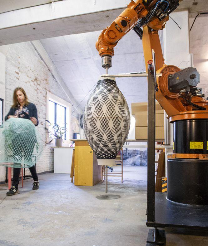 ATELIER ROBOTIQ fiber pattern lamp— Atelier Robotiqatelier robotiq