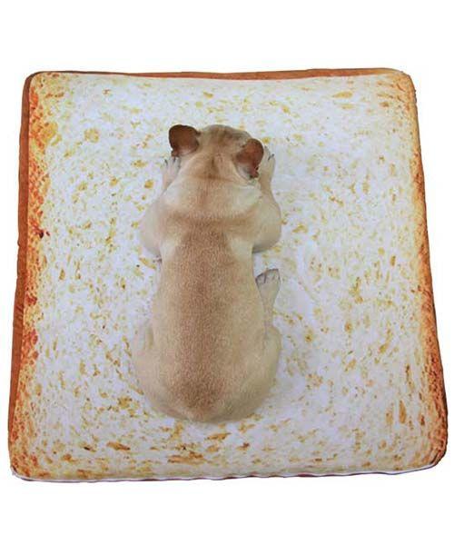SNSで人気炸裂!!トースト型 犬用ベッド 猫用マット ペット ドッグ用クッション ふわふわ 柔らかい パピー用 座布団 小型犬 中型犬 大型犬 かわいい ハウス チワワ プードル ミニチュアピンシャー ポメラニアン 洗えるパン型 ソファ♡