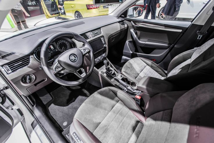 Alcantara seats in black or brown colour – all with Scout logo --> http://www.skoda-auto.com/en/models/octavia-scout/ #octaviascout #octavia #skoda #genevamotorshow