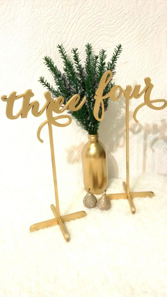 10 Freestanding Table numbers. Numbers for tables. Numbers. Gold numbers. Wedding table numbers. by LovelyWeddingDay on Etsy https://www.etsy.com/listing/255664418/10-freestanding-table-numbers-numbers