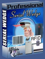 Serial port COM to wedge keyboard software http://www.billproduction.com/Wedge_Keyboard_Serial_RS232_Barcode_Scanner/INDEX.HTML
