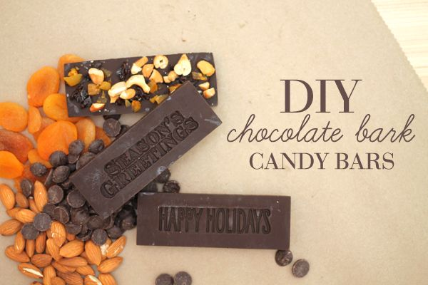 Holy AWESOME DIY Chocolate Bark Candy Bars using stamps. like... the stamps that stamp. like... the stamps that you stamp on paper. HOW AWESOME