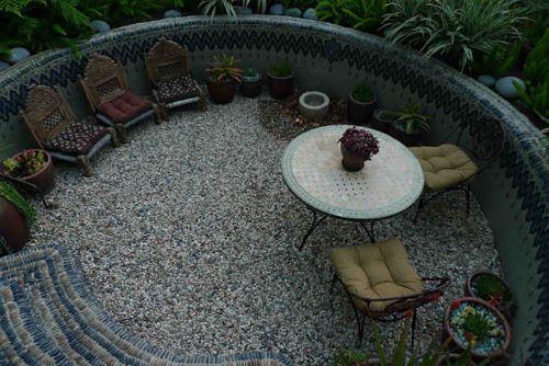 sunken circle garden