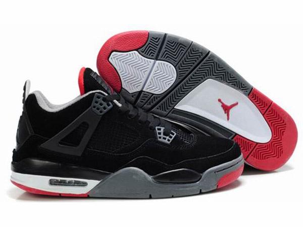 Air Jordan 4 Retro Chaussures Pour Homme Noir/Rouge air jordan 3 femme -Boutique