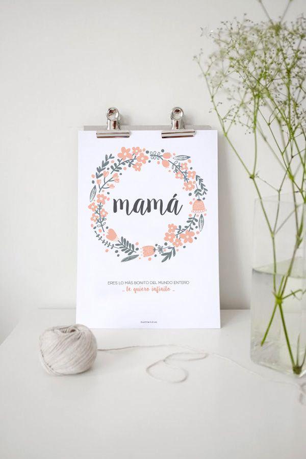 Lámina imprimible Día de la Madre