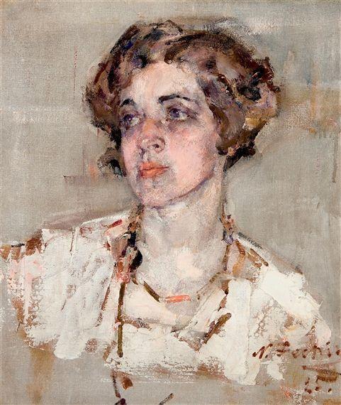 Nicolai Fechin, Portrait of Mrs. Dean Cornwell, 1925