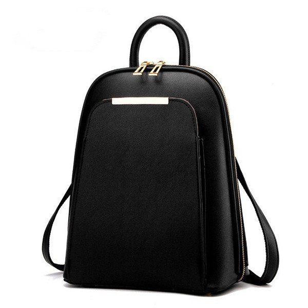 Women PU Leather Vintage Backpack Fashion Travel Shell Shoulder Bags